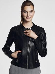 Czarna kurtka Ochnik krótka z bawełny
