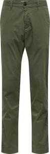 Zielone spodnie Selected Homme z bawełny w stylu casual