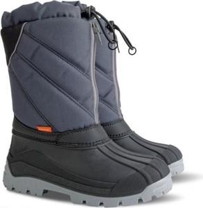 Niebieskie buty dziecięce zimowe Demar sznurowane