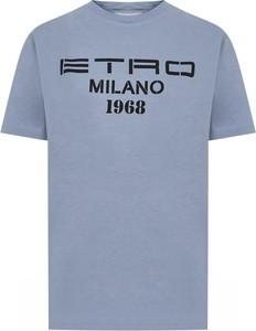 T-shirt Etro w młodzieżowym stylu z krótkim rękawem z okrągłym dekoltem