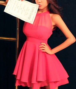 Różowa sukienka styl asyk