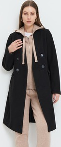 Czarny płaszcz Mohito w stylu casual