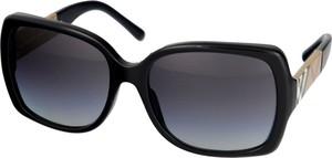 Czarne okulary damskie Burberry