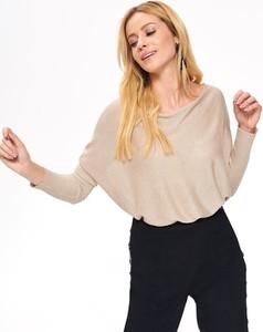 Złoty sweter Top Secret w stylu casual