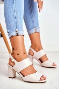 Sandały Sergio Leone na słupku ze skóry