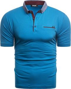 Niebieska koszulka polo Risardi