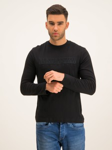 Czarna koszulka z długim rękawem Napapijri z długim rękawem