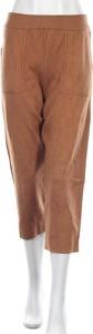 Brązowe spodnie Zara Knitwear w stylu retro ze sztruksu