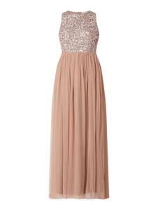 Sukienka Lace & Beads z tiulu bez rękawów