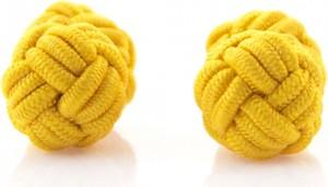 Em Men`s Accessories Spinki supełki żółte EM 248