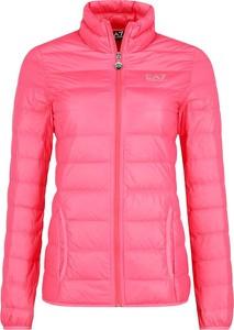 Różowa kurtka EA7 Emporio Armani w stylu casual