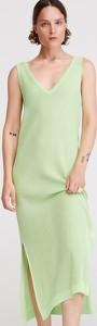 Zielona sukienka Reserved bez rękawów midi