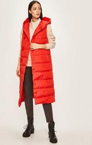 Czerwona kamizelka Silvian Heach długa z tkaniny w stylu casual