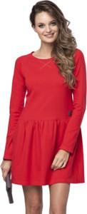Czerwona sukienka Look made with love mini z dżerseju
