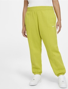 Zielone spodnie Nike w sportowym stylu z dzianiny