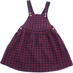 Fioletowa sukienka dziewczęca Petit bateau w krateczkę
