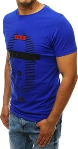 T-shirt Dstreet w młodzieżowym stylu z krótkim rękawem z nadrukiem