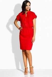 Sukienka TAGLESS z dekoltem w kształcie litery v