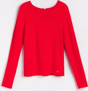 Czerwony sweter Reserved w stylu casual