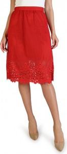 Czerwona spódnica Tommy Hilfiger midi