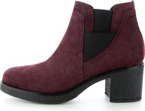 Czerwone botki prima moda