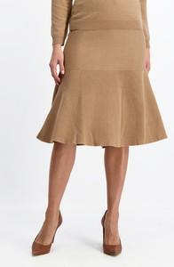 Brązowa spódnica Lavard z tkaniny