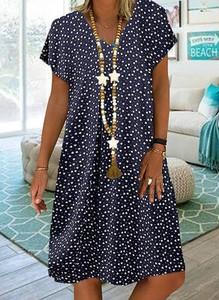 Sukienka Cikelly oversize z krótkim rękawem