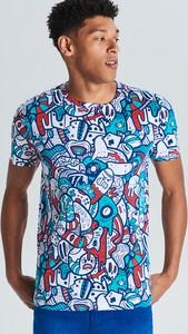 T-shirt Cropp z nadrukiem w młodzieżowym stylu