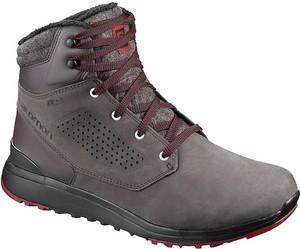 Brązowe buty trekkingowe Salomon