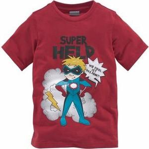 Bordowa koszulka dziecięca kidsworld z nadrukiem