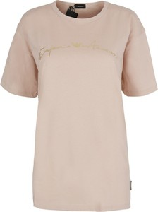 T-shirt Emporio Armani z dzianiny w street stylu