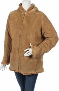 Brązowa kurtka Seventy Seven w stylu casual ze skóry krótka
