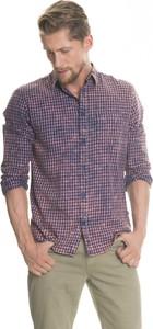 Koszula Big Star z bawełny z klasycznym kołnierzykiem z długim rękawem