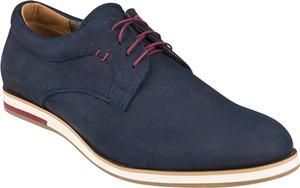 Granatowe buty Lavard sznurowane