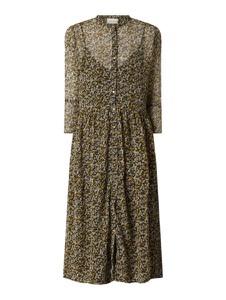 Sukienka Neo Noir w stylu casual midi z długim rękawem