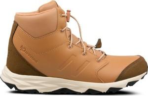 Brązowe buty trekkingowe dziecięce New Balance sznurowane