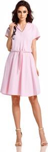 Sukienka TAGLESS mini z krótkim rękawem wyszczuplająca