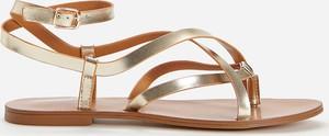 Złote sandały Reserved w stylu casual