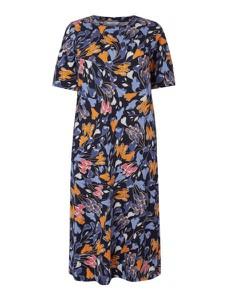 Sukienka Tom Tailor z krótkim rękawem z okrągłym dekoltem w stylu casual