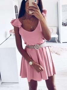 Sukienka Pakuten w stylu casual mini z krótkim rękawem