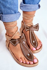 Brązowe sandały Lu Boo