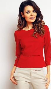 Czerwona bluzka Infinite You z okrągłym dekoltem
