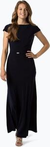 Granatowa sukienka Ralph Lauren z okrągłym dekoltem z krótkim rękawem