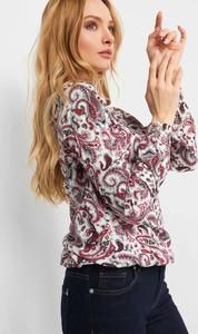 Bluzka ORSAY z tkaniny z długim rękawem