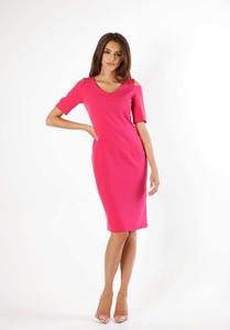 Sukienka Nommo ołówkowa z krótkim rękawem