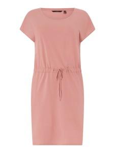 Różowa sukienka Vero Moda z krótkim rękawem w stylu casual z bawełny