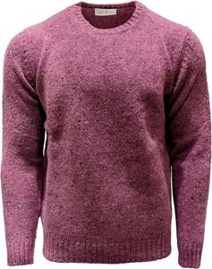 Fioletowy sweter Della Ciana w stylu casual