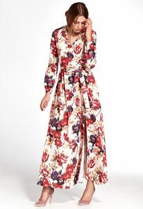 Sukienka Merg rozkloszowana z dekoltem w kształcie litery v