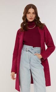 Czerwony płaszcz FEMESTAGE Eva Minge w stylu klasycznym