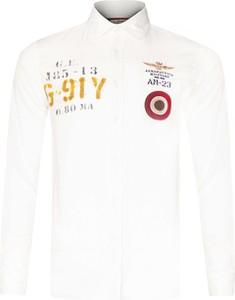 Koszula Aeronautica Militare z klasycznym kołnierzykiem z bawełny